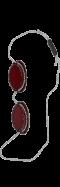 Очки для загара в солярии на резинке (1 шт) -